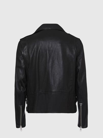 Diesel - L-GARRETT, Black - Leather jackets - Image 2