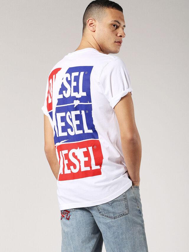 Diesel - T-JUST-ZC, White - T-Shirts - Image 1