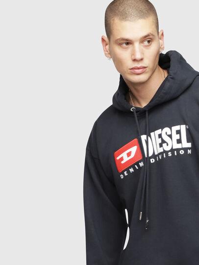 Diesel - S-DIVISION, Dark Blue - Sweaters - Image 3