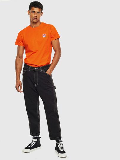 Diesel - T-DIEGO-DIV, Orange - T-Shirts - Image 4