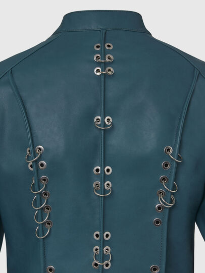 Diesel - L-MARS, Water Green - Leather jackets - Image 5