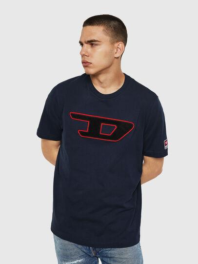 Diesel - T-JUST-DIVISION-D, Dark Blue - T-Shirts - Image 1