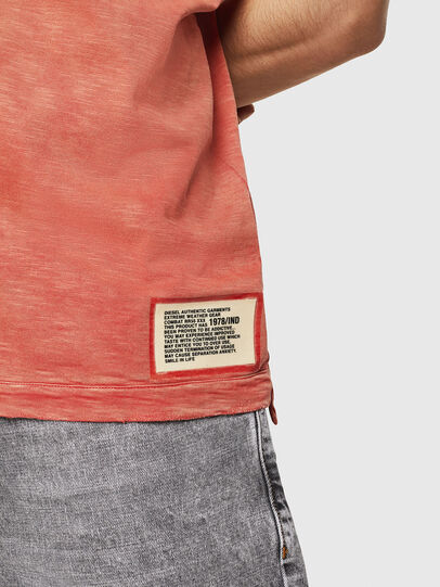Diesel - T-DIEGO-V-CUT, Fire Red - T-Shirts - Image 5