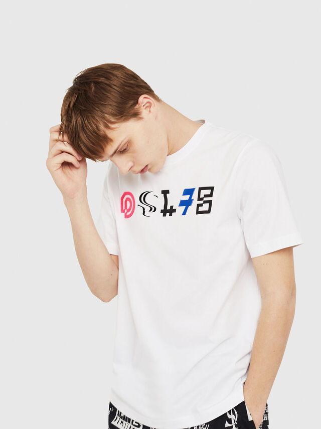 Diesel - T-JUST-Y17, White - T-Shirts - Image 4