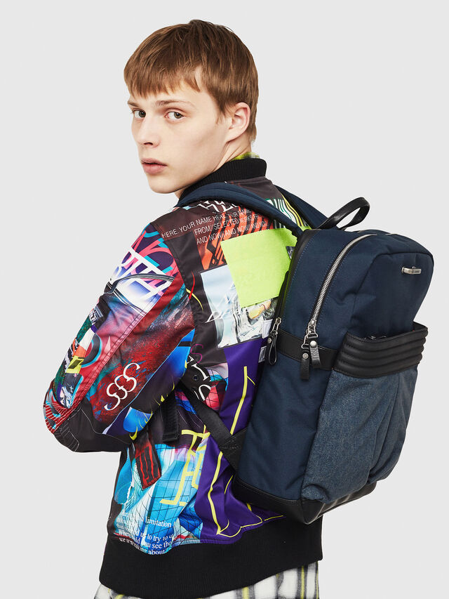 Diesel - M-PROOF BACK, Blue Jeans - Backpacks - Image 6