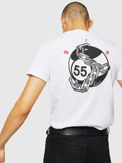 Diesel - T-DIEGO-J16, White - T-Shirts - Image 4
