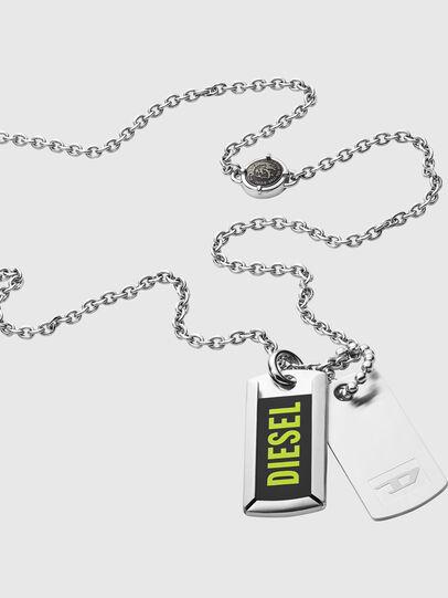 Diesel - DX1245, Silver - Necklaces - Image 2
