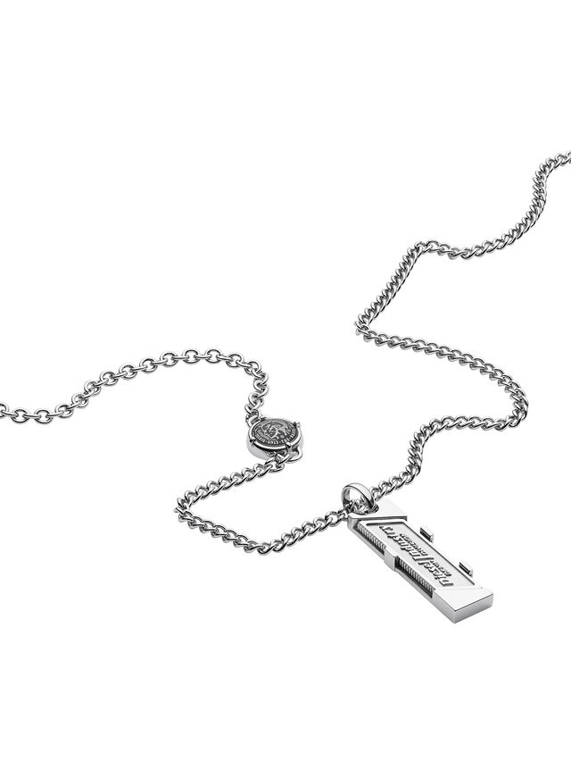 Diesel NECKLACE DX1036, Silver - Necklaces - Image 2