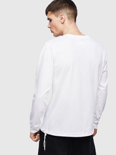 Diesel - T-HUSTY-LS, White - T-Shirts - Image 3