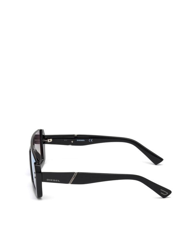 Diesel - DL0248, Bright Black - Eyewear - Image 3