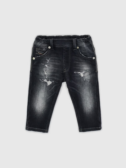 Diesel - KROOLEY-JOGGJEANS-B-N, Black - Jeans - Image 1
