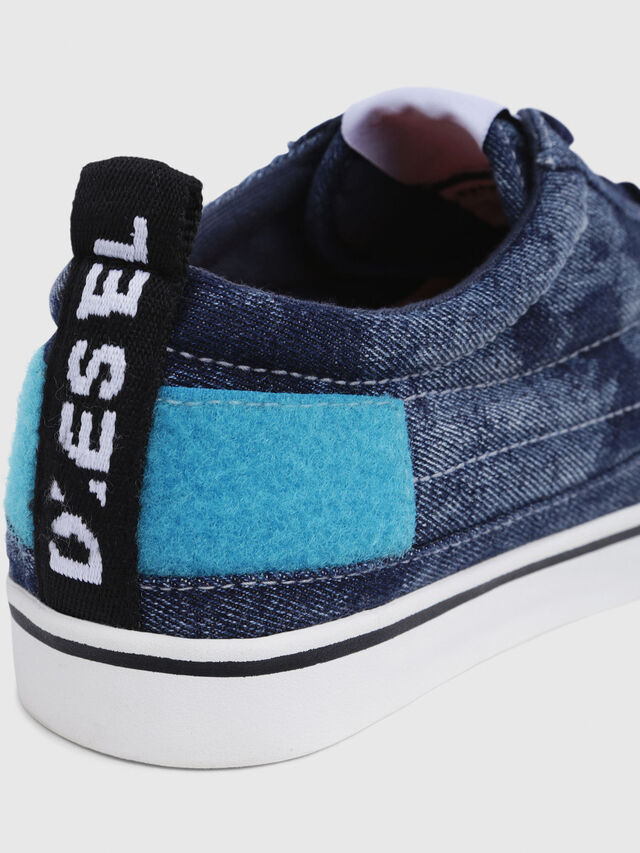 Diesel - D-VELOWS LOW PATCH, Blue Jeans - Sneakers - Image 6