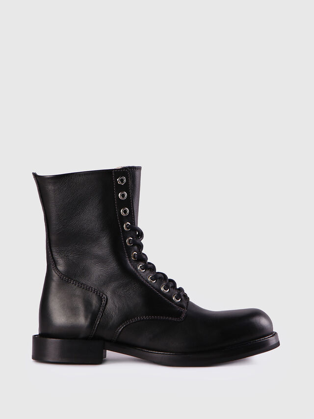 Diesel D-KOMB BOOT CB, Black Leather - Ankle Boots - Image 1