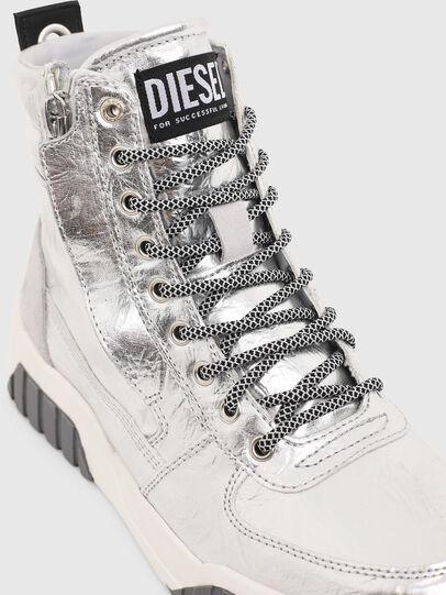 Diesel - S-RUA MID W, Silver - Sneakers - Image 4