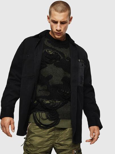 Diesel - S-LEBED, Black - Shirts - Image 6