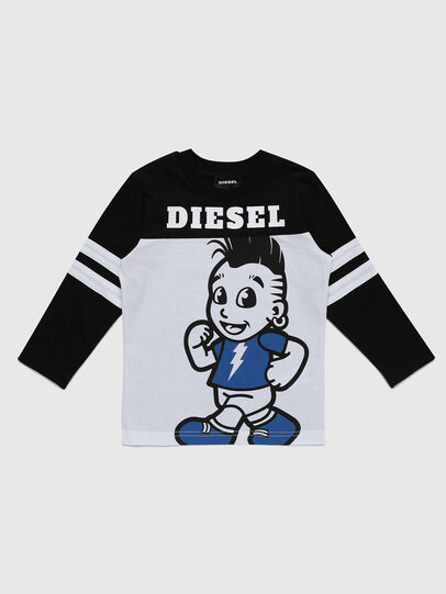 Diesel - TILLYB-R, Black/White - T-shirts and Tops - Image 1