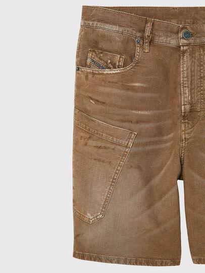 Diesel - D-AZERR-SHORT JOGGJEANS, Brown - Shorts - Image 3