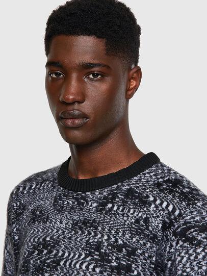 Diesel - K-AZOTIC, Black/Grey - Knitwear - Image 4