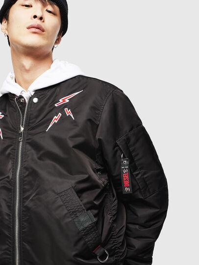 Diesel - CL-J-ROSS-REV-BIGM, Black - Winter Jackets - Image 3