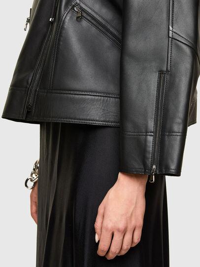 Diesel - L-HAZEL, Black - Leather jackets - Image 5
