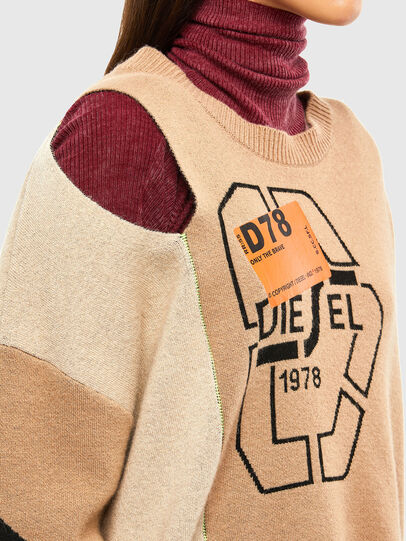 Diesel - M-ALYCIA, Beige - Knitwear - Image 4