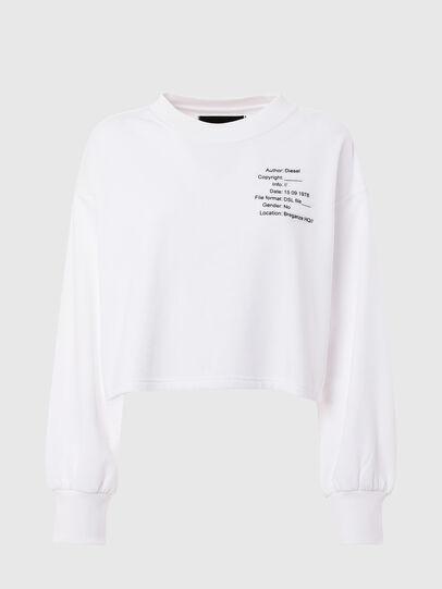 Diesel - UFTL-FELPH, White - Sweaters - Image 1