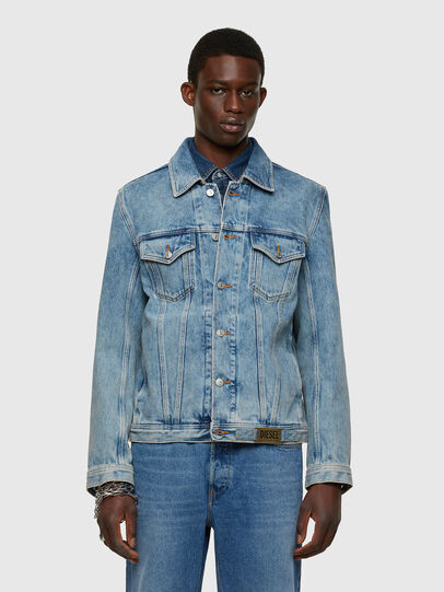 Diesel - NHILL-C1, Light Blue - Denim Jackets - Image 1