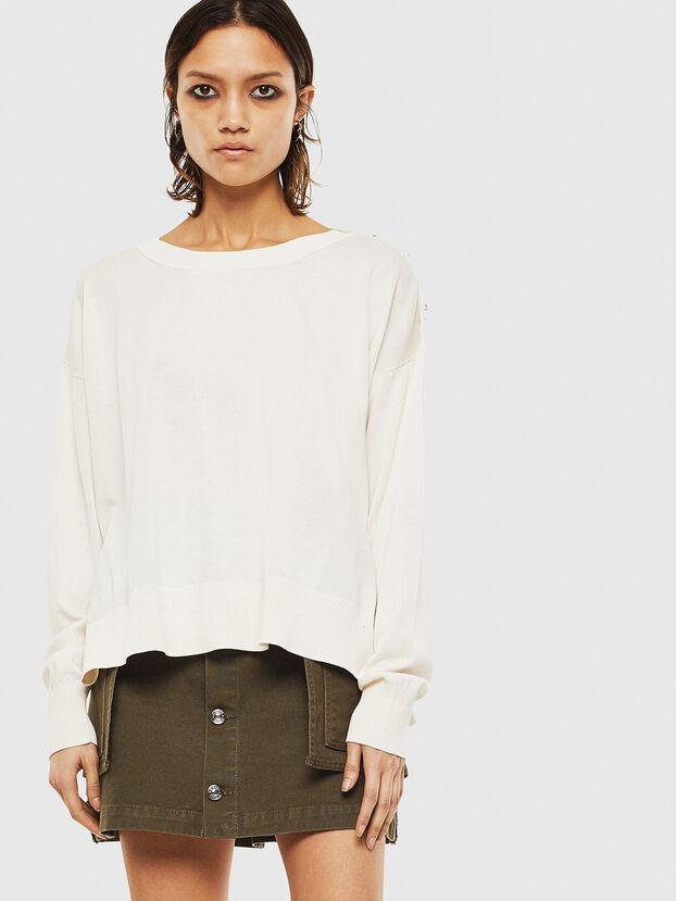 M-PERLA-A, White - Knitwear