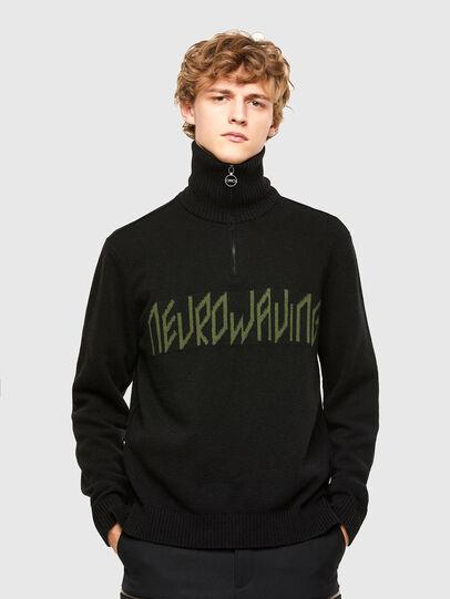 Diesel - K-GABY, Black - Knitwear - Image 1