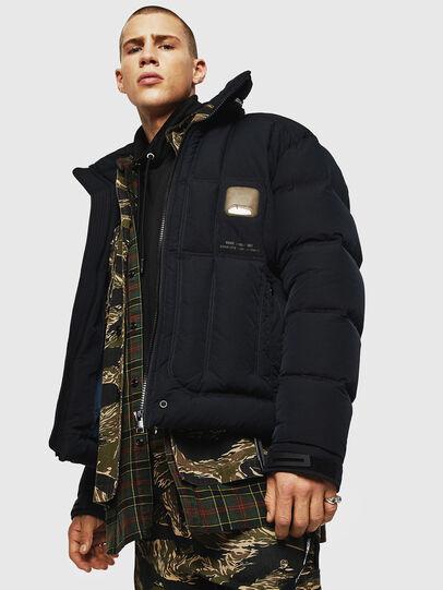 Diesel - W-PETR, Black - Winter Jackets - Image 4