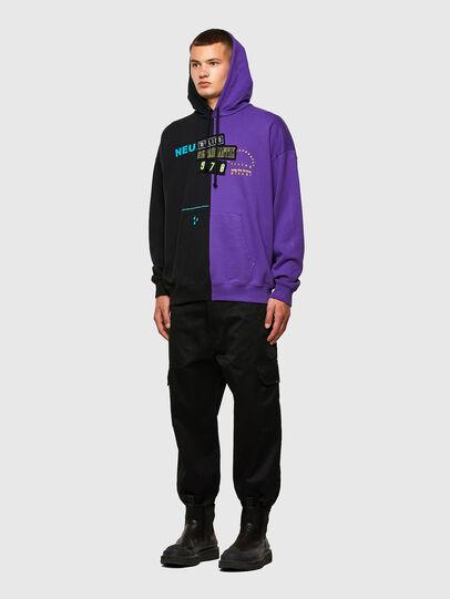 Diesel - S-UMMER-SPLIT-N1, Black/Violet - Sweaters - Image 5