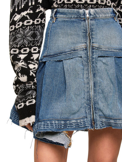 Diesel - OMYNRA, Light Blue - Skirts - Image 4
