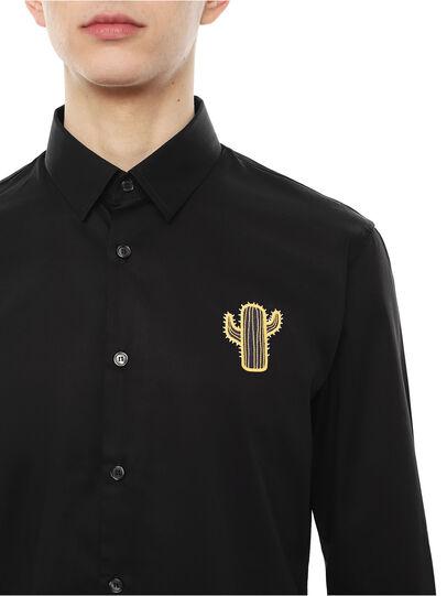 Diesel - SIRRIVE-CACTUS, Black - Shirts - Image 3
