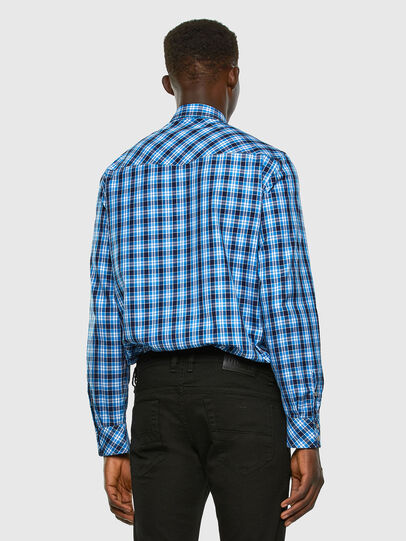 Diesel - S-EAST-LONG-O, Blue/White - Shirts - Image 5