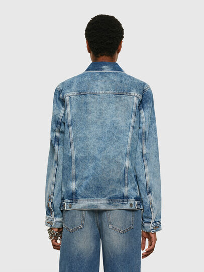 Diesel - NHILL-C1, Light Blue - Denim Jackets - Image 4