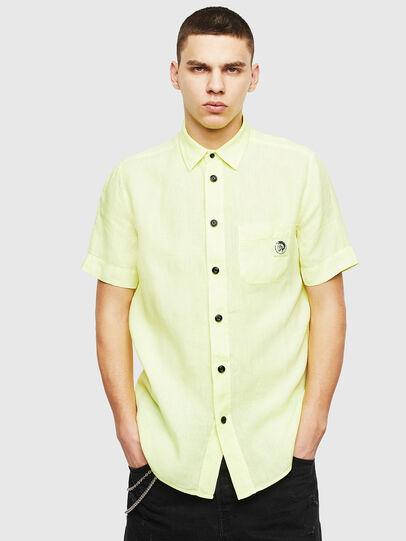 Diesel - S-KIRUMA-B, Yellow Fluo - Shirts - Image 1
