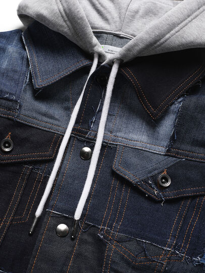 Diesel - D-OWNHILL55, Medium blue - Denim Jackets - Image 3