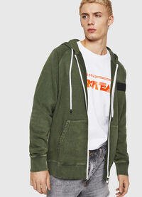 S-GIM-HOOD-ZIP, Dark Green