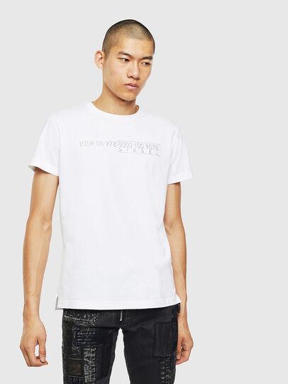 Diesel - T-DIEGO-SLITS-J6, White - T-Shirts - Image 1