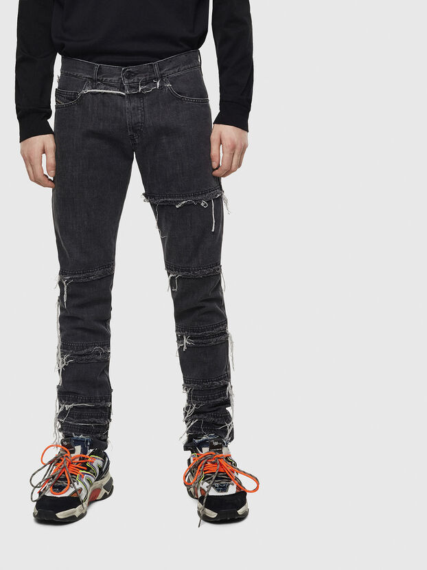 D-Kras 009CD, Black/Dark grey - Jeans