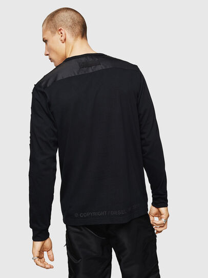 Diesel - T-JUST-LS-BX3, Black - T-Shirts - Image 2