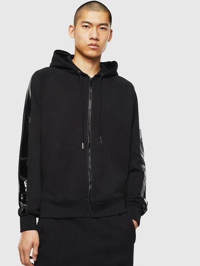 Diesel - S-GIMK-HOOD-J, Black - Sweaters - Image 1