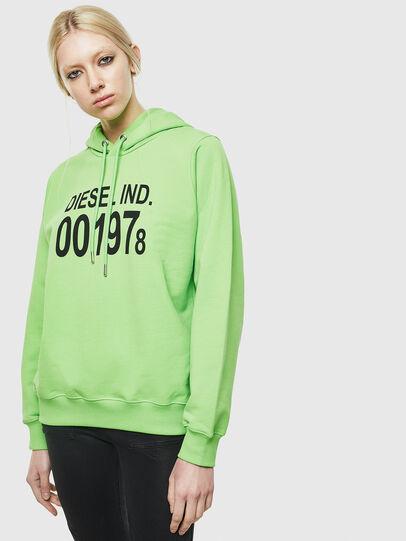 Diesel - F-ANG-HOOD-J1, Green Fluo - Sweaters - Image 1