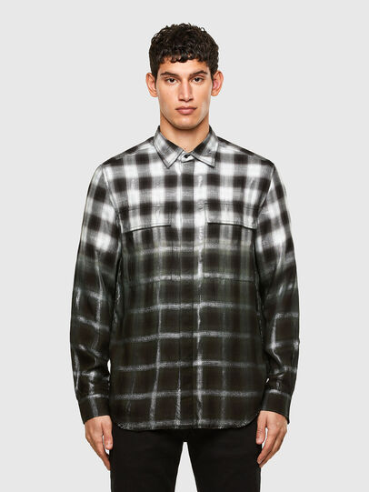 Diesel - S-KEITH, Black/White - Shirts - Image 1