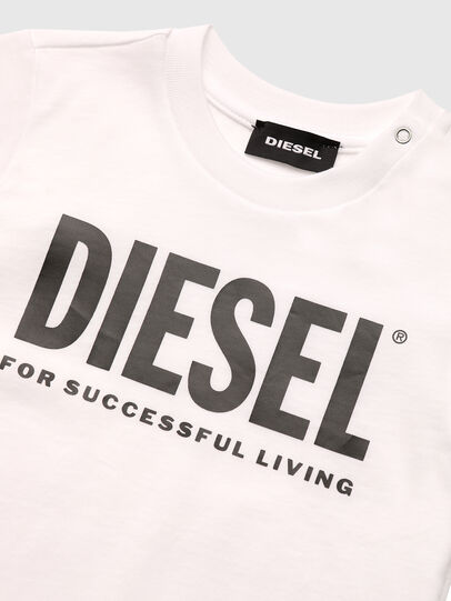 Diesel - TJUSTLOGOB, White - T-shirts and Tops - Image 3