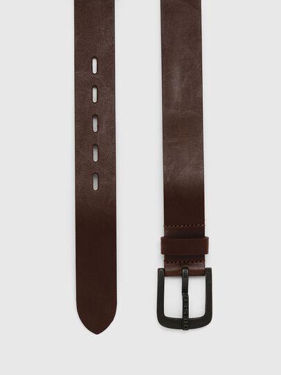 Diesel - B-DART, Brown Leather - Belts - Image 3
