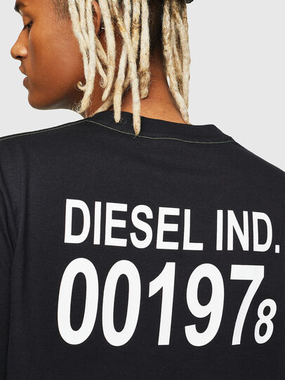 Diesel - T-JUST-VINT, Black - T-Shirts - Image 4