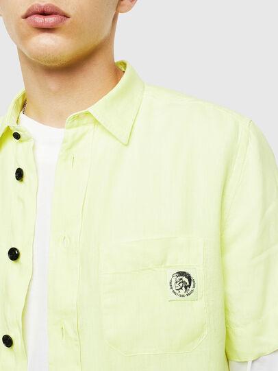 Diesel - S-KIRUMA-B, Yellow Fluo - Shirts - Image 3