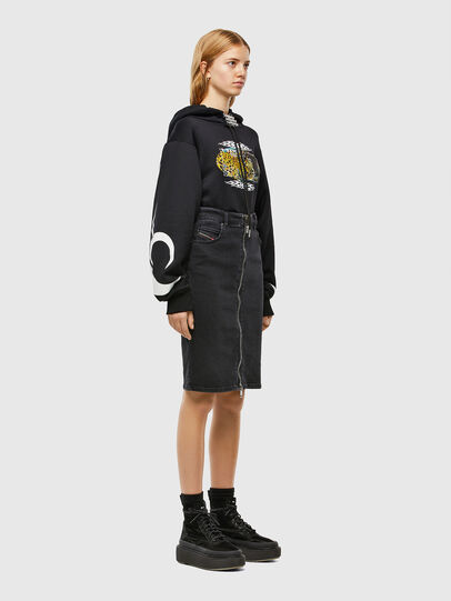 Diesel - DE-PENCIL-ZIP, Black - Skirts - Image 5