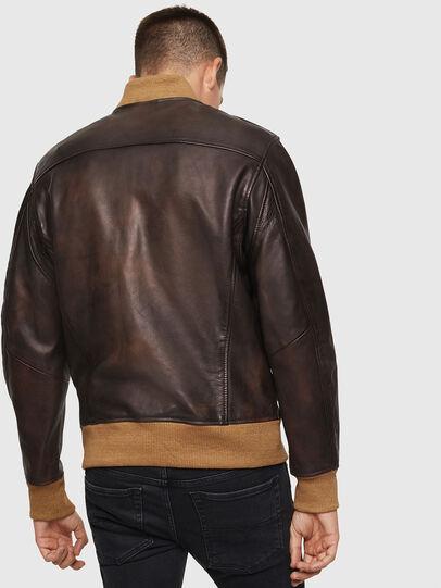 Diesel - L-OIUKI, Brown - Leather jackets - Image 2